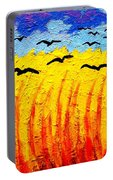 Crows Over Vincent's Field Portable Battery Charger