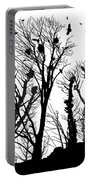 Crows Roost 1 - Black And White Portable Battery Charger
