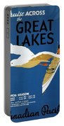 Cruise Across The Great Lakes - Canadian Pacific - Retro Travel Poster - Vintage Poster Portable Battery Charger