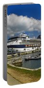 Cruise Ship In Bermuda Portable Battery Charger