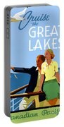 Cruise The Great Lakes Vintage Travel Poster Portable Battery Charger