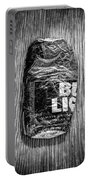 Crushed Blue Beer Can On Plywood 78 In Bw Portable Battery Charger