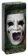Crying Mask In Box Portable Battery Charger by Garry Gay
