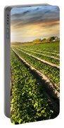 Cultivated Land Portable Battery Charger by Carlos Caetano