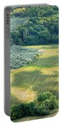 Cultivated Vineyards Tuscany  Italy Portable Battery Charger