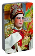 Cultural Opera Actor In Red Portable Battery Charger