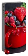Cup Of Fresh Berries Portable Battery Charger