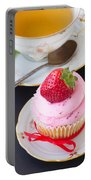 Cupcake With Strawberry Portable Battery Charger