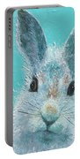 Curious Grey Rabbit Portable Battery Charger