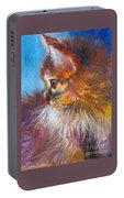 Curious Tubby Kitten Painting Portable Battery Charger