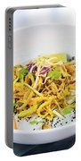 Curry Sauce Vegetable Salad With Noodles And Sesame Portable Battery Charger