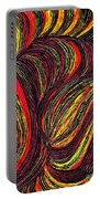 Curved Lines 3 Portable Battery Charger by Sarah Loft