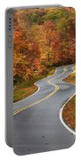 Curvy Road In The Mountains Portable Battery Charger