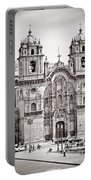 Cusco Cathedral Portable Battery Charger by Darcy Michaelchuk