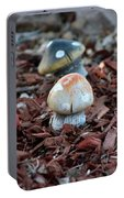 Cluster Of Toadstools  In Fairy Garden Portable Battery Charger