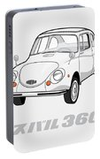Custom Color Subaru 360 Portable Battery Charger