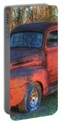 Customized Rust 1949 Ford Pickup Truck Portable Battery Charger