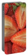 Cut Strawberries Portable Battery Charger