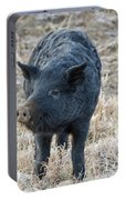 Cute Black Pig Portable Battery Charger