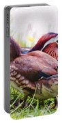 Cute Couple - Mandarin Ducks Portable Battery Charger