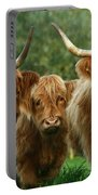 Cute Fluffy Cows Portable Battery Charger