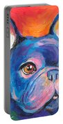 Cute French Bulldog Painting Prints Portable Battery Charger by Svetlana Novikova