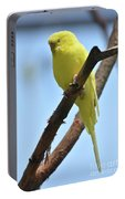 Cute Little Parakeet Resting On A Branch Portable Battery Charger