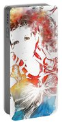 Cyndi Lauper Watercolor Portable Battery Charger