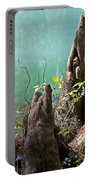 Cypress Knees In The Mist Portable Battery Charger