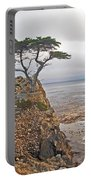 Cypress Tree At Pebble Beach Portable Battery Charger