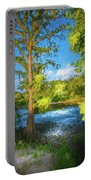 Cypress Tree By The River Portable Battery Charger