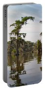 Cypress Trees And Spanish Moss In Lake Martin Portable Battery Charger