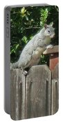 D-a0071-e-dc Gray Squirrel On Our Fence Portable Battery Charger
