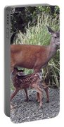 D2b6314 Fawn And Deer Mom Portable Battery Charger