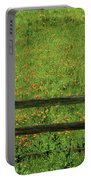 D7b6306 Fence And Poppies Portable Battery Charger