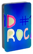 Dad Rocks Portable Battery Charger by Raul Diaz