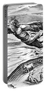 Daedalus Escaping From Crete With His Son, Icarus, Sees Him Falling To His Death Portable Battery Charger