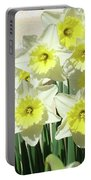 Daffodil Bouquet Spring Flower Garden Baslee Troutman Portable Battery Charger