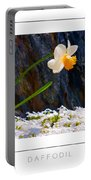 Daffodil Poster Portable Battery Charger