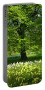 Daffodils And Narcissus Under Tree Portable Battery Charger