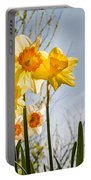 Daffodils Backlit Portable Battery Charger