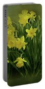 Daffodils Portable Battery Charger by Sandy Keeton