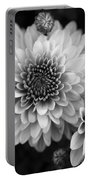 Dahlia Burst B/w Portable Battery Charger