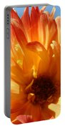 Dahlia Floral Orange Yellow Flower Botanical Art Prints Canvas Baslee Troutman Portable Battery Charger