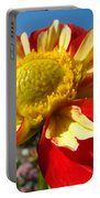 Dahlia Flower Art Prints Canvas Red Yellow Dahlias Baslee Troutman Portable Battery Charger