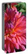 Dahlia Flowers Garden Art Prints Baslee Troutman Portable Battery Charger