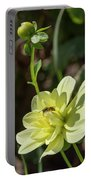 Dahlia With Wasp Portable Battery Charger