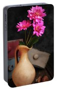 Dahlias And Drawers Portable Battery Charger