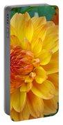 Dahlias Art Prints Orange Dahlia Flowers Baslee Troutman Portable Battery Charger