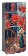 Dahlias With Red Cup Portable Battery Charger